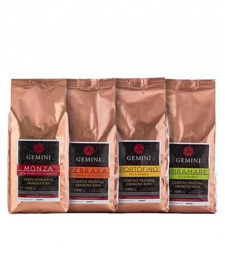 Degustační balení kávy 4 x 1000g